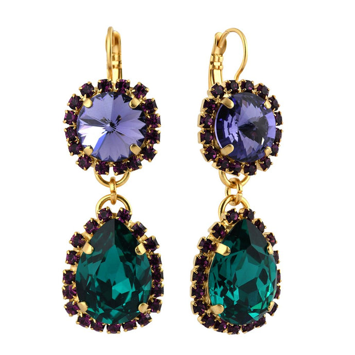 Mariana Jewelry Peacock Statement Earring - 1137/2 -2139YG