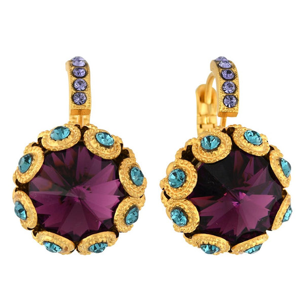 Mariana Jewelry Peacock Earring - 1386-2139YG - LilloBellaBoutique.com