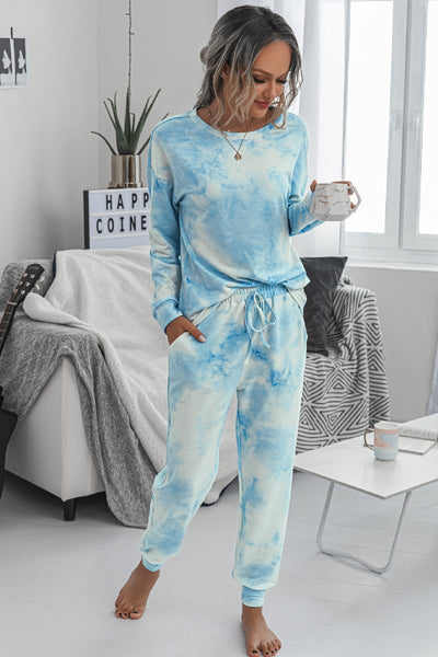 Maddy Pajama Set - Blue - LilloBellaBoutique.com