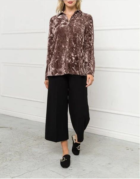 Paxton Velvet Shirt - LilloBellaBoutique.com