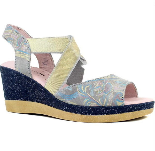 Maciejka Floral Wedge Sandal - LilloBellaBoutique.com