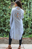 Nola Embroidered Duster - LilloBellaBoutique.com