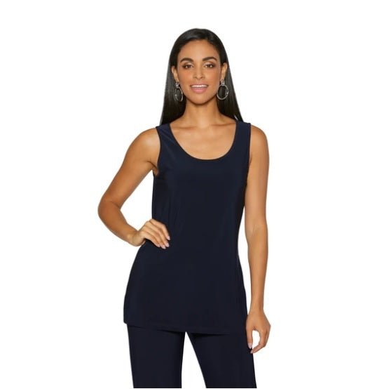 Compli K Basic Tank Top - Navy - LilloBellaBoutique.com
