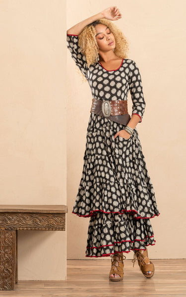 Santa Fe Dress - Aziza - LilloBellaBoutique.com