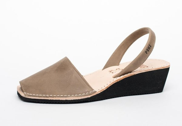 Pons Avarca Wedge Sandal - Taupe