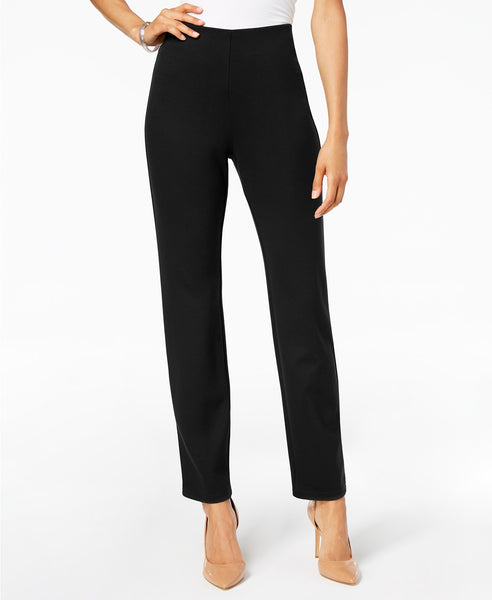 Seasonless Ponte Knit Pull On Pant - Black - LilloBellaBoutique.com