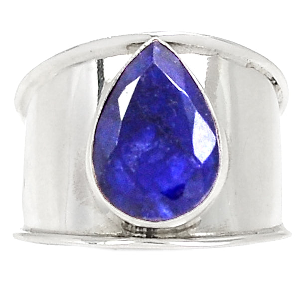 Large Lapis Lazuli Sterling Silver Ring - Size 8 - LilloBellaBoutique.com