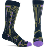 FLW Men's Saguaro 2 Sock - Navy - LilloBellaBoutique.com