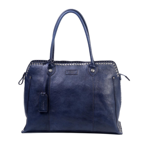 Soul Stud Satchel Bag - Navy