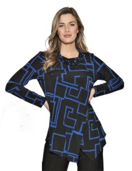 Compli K Block Print Tunic Top - LilloBellaBoutique.com