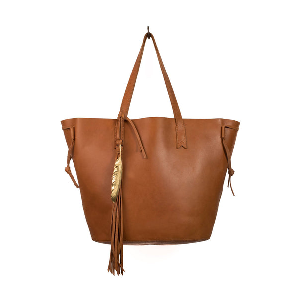 Tribe Leather Tote Bag - LilloBellaBoutique.com