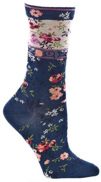 Ozone Socks - Mona Linen Navy - LilloBellaBoutique.com