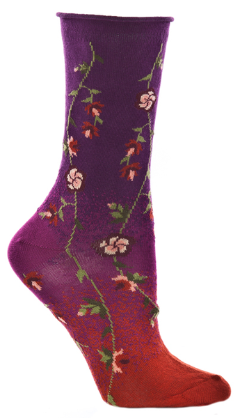 Ozone Socks Tibetan Flower -Fuschia - LilloBellaBoutique.com