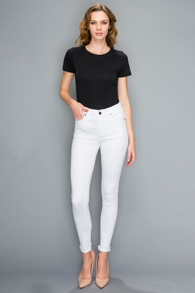 Giselle Jeans - White - LilloBellaBoutique.com