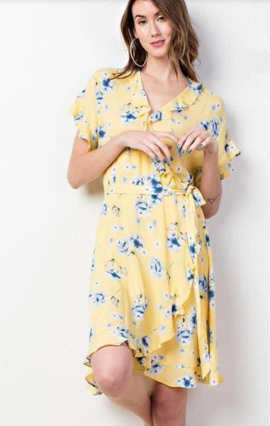 Bit Of A Flirt Dress - Yellow