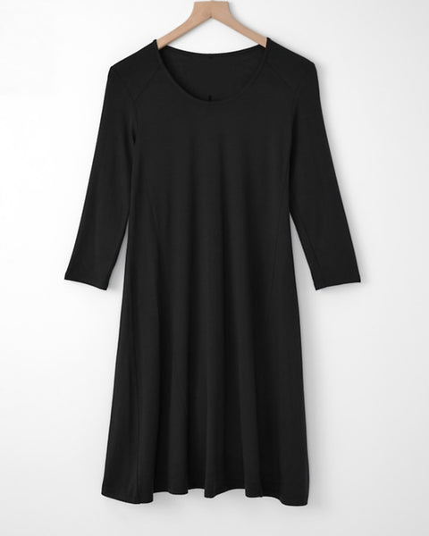 Compli K Round Neck Dress - Black