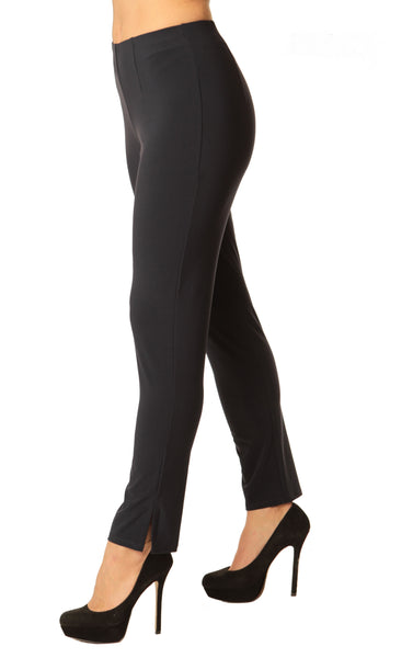 Alisha D Pencil Leg Travel Pant - Black