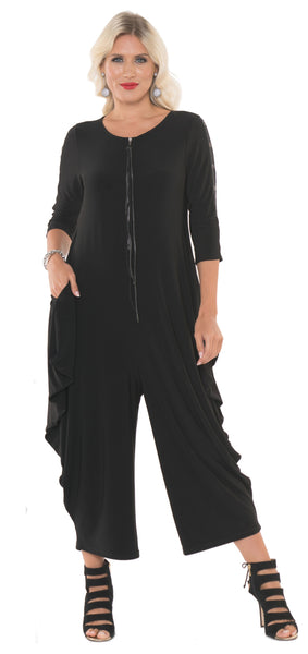 Claudine Jumpsuit - Black - LilloBellaBoutique.com
