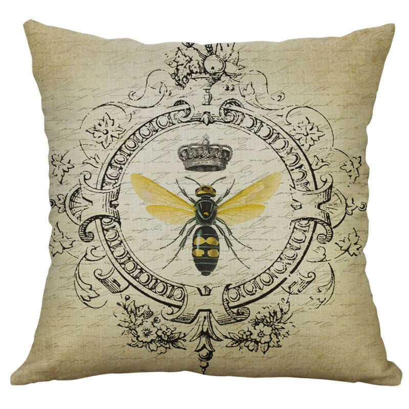 Cotton Linen Pillow Case 18 x 18 set of 2 - Crown & Bee
