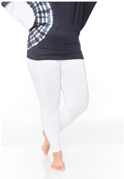 Basic Plus Size Legging - White - LilloBellaBoutique.com