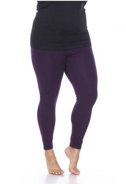 Basic Plus Size Legging - Purple