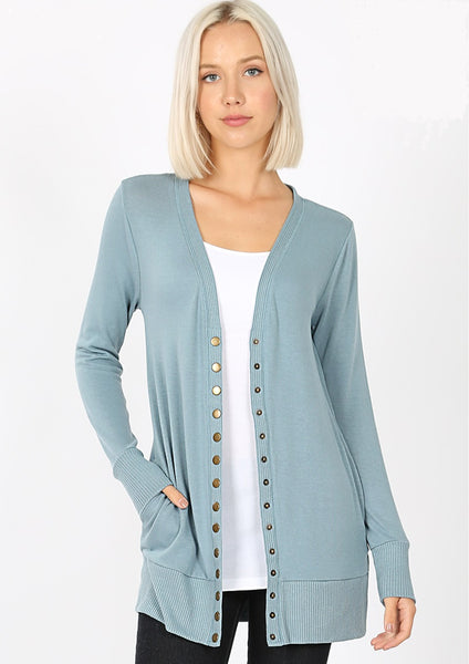 Leah Snap Front Cardigan - LilloBellaBoutique.com
