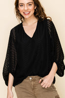 On Point Chevy Blouse - Black