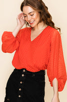 On Point Chevy Blouse - Red