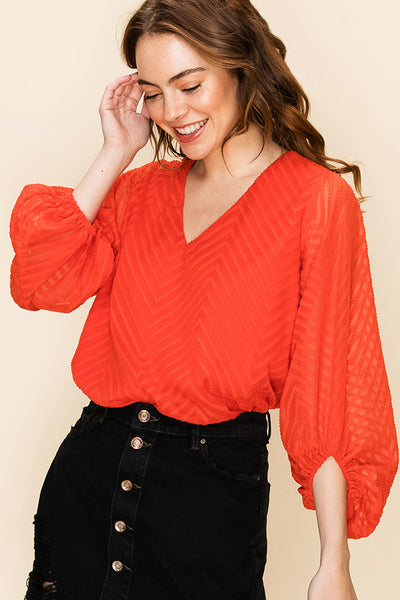 On Point Chevy Blouse - Red - LilloBellaBoutique.com