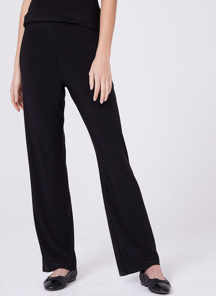 Compli K Pull On Straight Leg Pant - Black. - LilloBellaBoutique.com