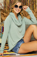 Danica Tunic Top -Sage - LilloBellaBoutique.com