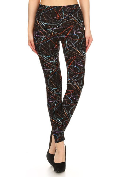 Scribble In Colour Legging - LilloBellaBoutique.com
