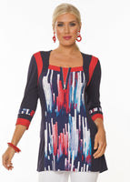 Lior Paris Coloured Brushstroke Top - Navy - LilloBellaBoutique.com