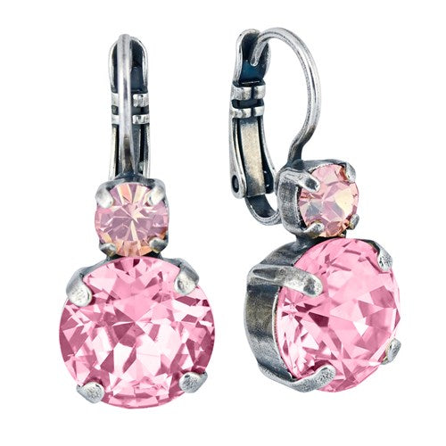 Mariana Jewelry Silver Plated Earring - Pink - LilloBellaBoutique.com