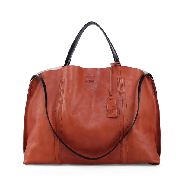 Forest Island Leather Tote - Cognac - LilloBellaBoutique.com