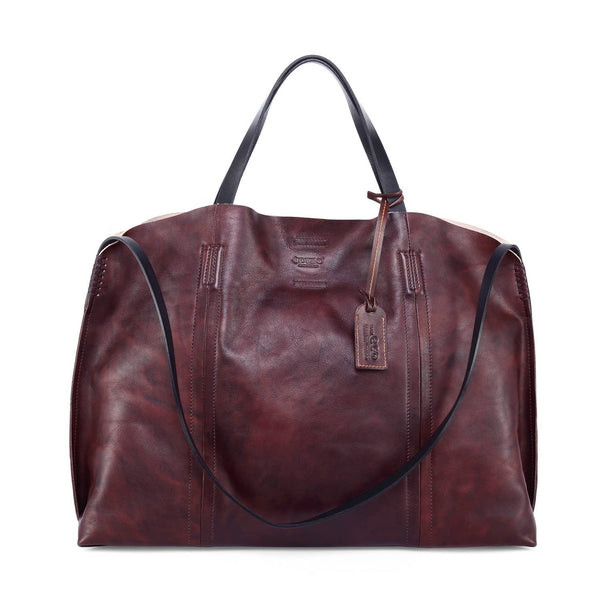 Forest Island Leather Caryall Tote - Rusty Red - LilloBellaBoutique.com
