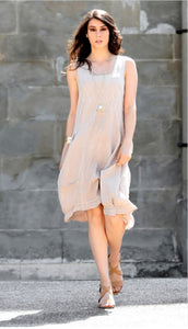 Luca Vanucci Sleeveless Linen Dress