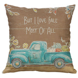 Cotton Linen Pillow Case 18 x 18 set of 2 - Fall Love - LilloBellaBoutique.com