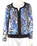 Tropicana  Zip Up Top - Blue Multi