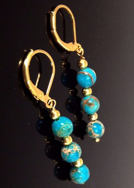 Angie's Sediment Jasper Earring - LilloBellaBoutique.com