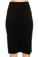 Senae Fitted Knit Skirt - Black