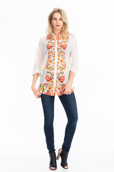 Floral Printed Button-Down Shirt