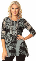 Bars and Circles Tunic Top