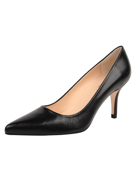 Jon Josef Paris Pump - Black Leather - LilloBellaBoutique.com