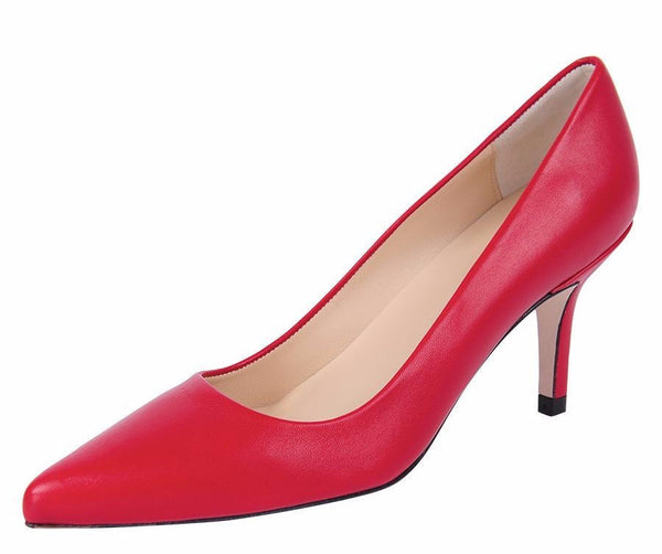 Jon Josef Chance Leather Pump - Red