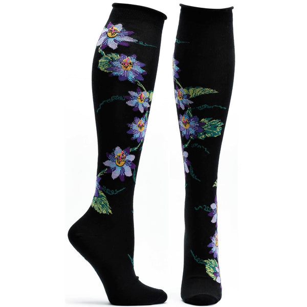 Apothecary Florals Knee Sock - Passion vine - LilloBellaBoutique.com