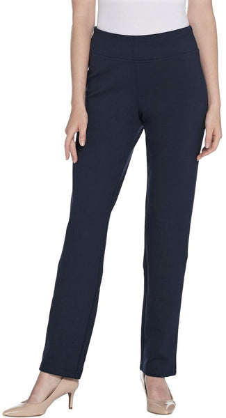 Seasonless Ponte Knit Pull On Pant - Navy - LilloBellaBoutique.com