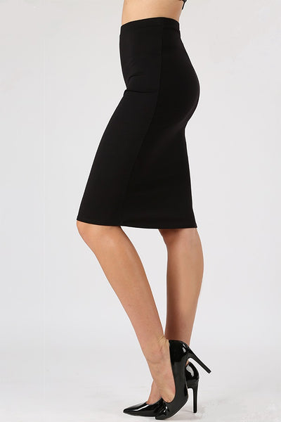 Ponte Knit Pencil Skirt - LilloBellaBoutique.com