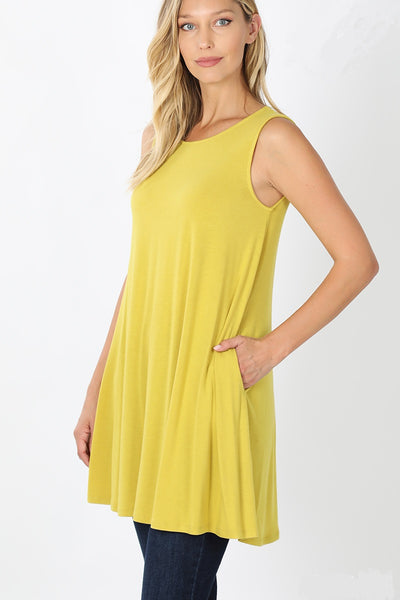Kelly Sleeveless Tunic Top