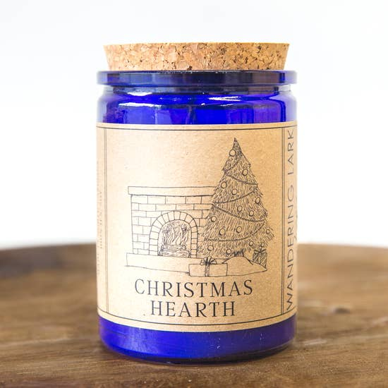 Wandering Lark Christmas Hearth Candle 12 oz - LilloBellaBoutique.com